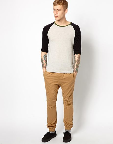 Luxury Shop New Look Woven Chino Joggers  Sprinter Jogger Pant In Khaki With Elastic Cuffs And Waistband, Waterrepellent And Stainresistant Stretch Twill Cheap Pants Office, Buy Quality Pants Germany Directly From China Pants For