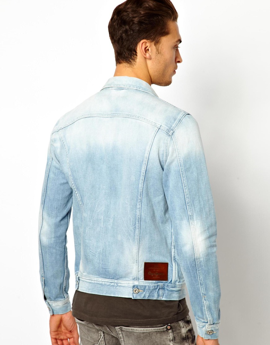 Light wash denim jacket mens – abyn