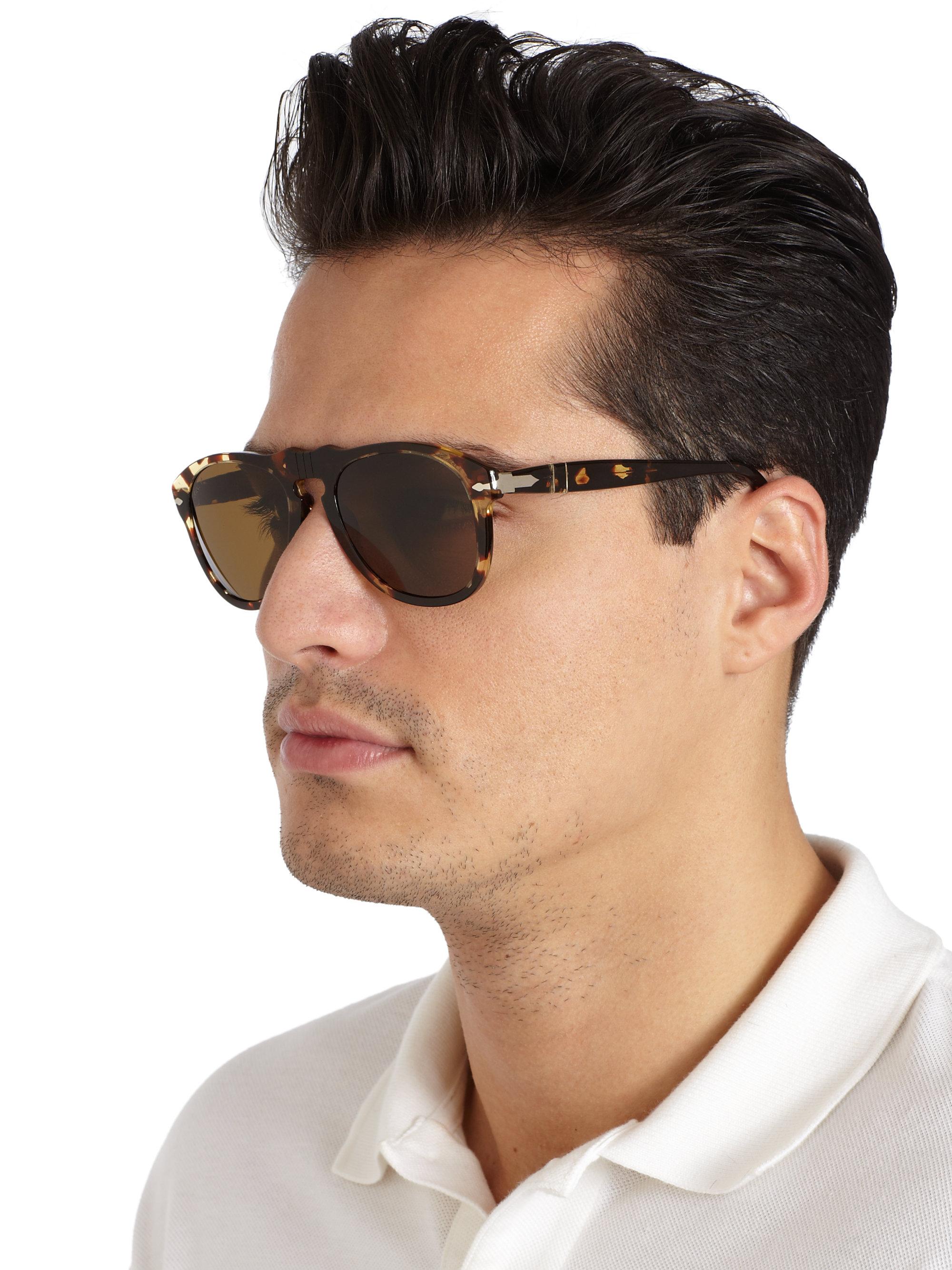 3e70e43099e8 Persol Retro Keyhole Sunglasses in Brown for Men - Lyst