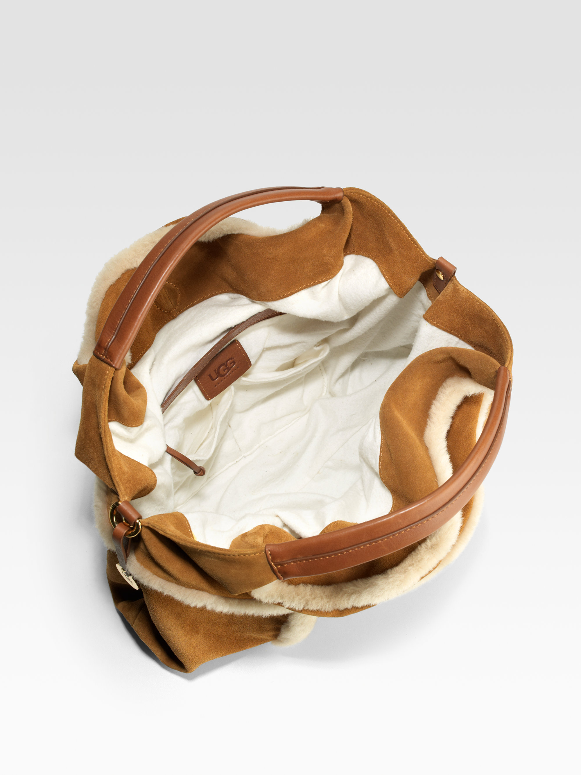 Ugg Quinn Mixed-Media Hobo Bag in Brown | Lyst