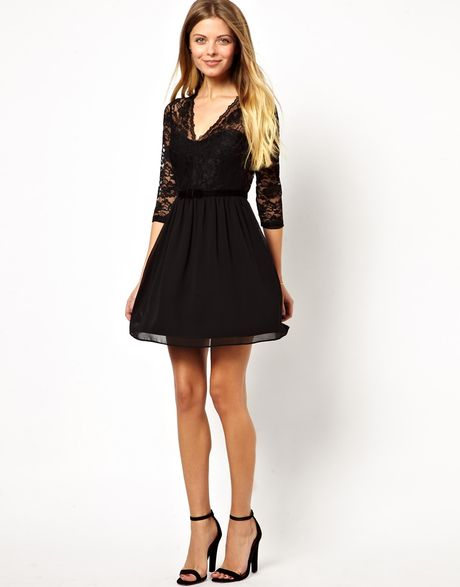 Scalloped Lace Skater Dress Scallop Lace Skater Dress