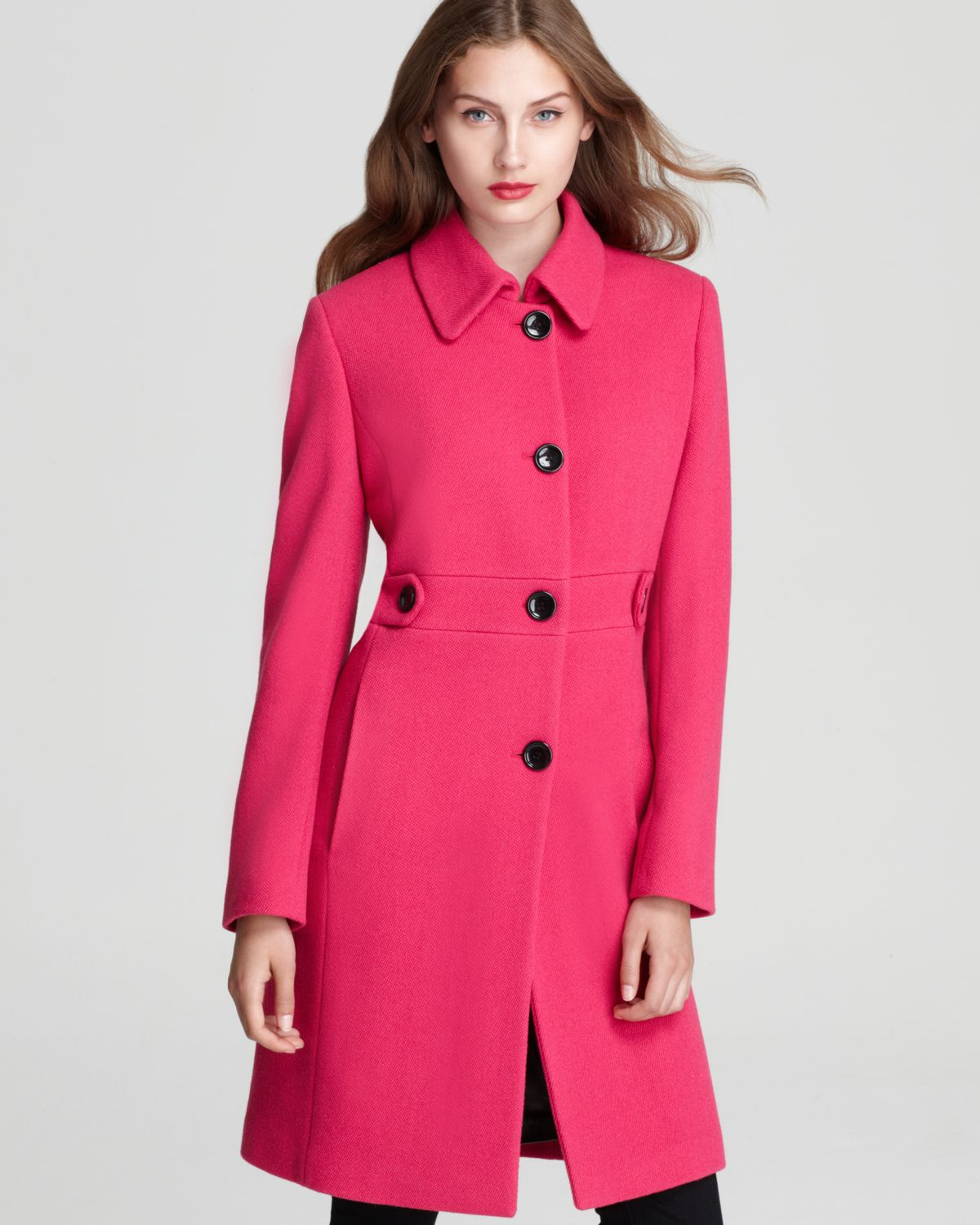 Calvin Klein Lady Coat In Pink Lyst