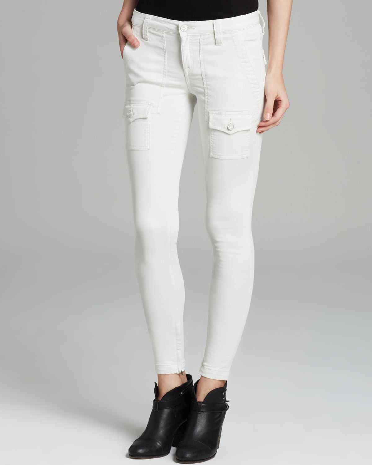 Joie So Real Skinny Jeans in White | Lyst