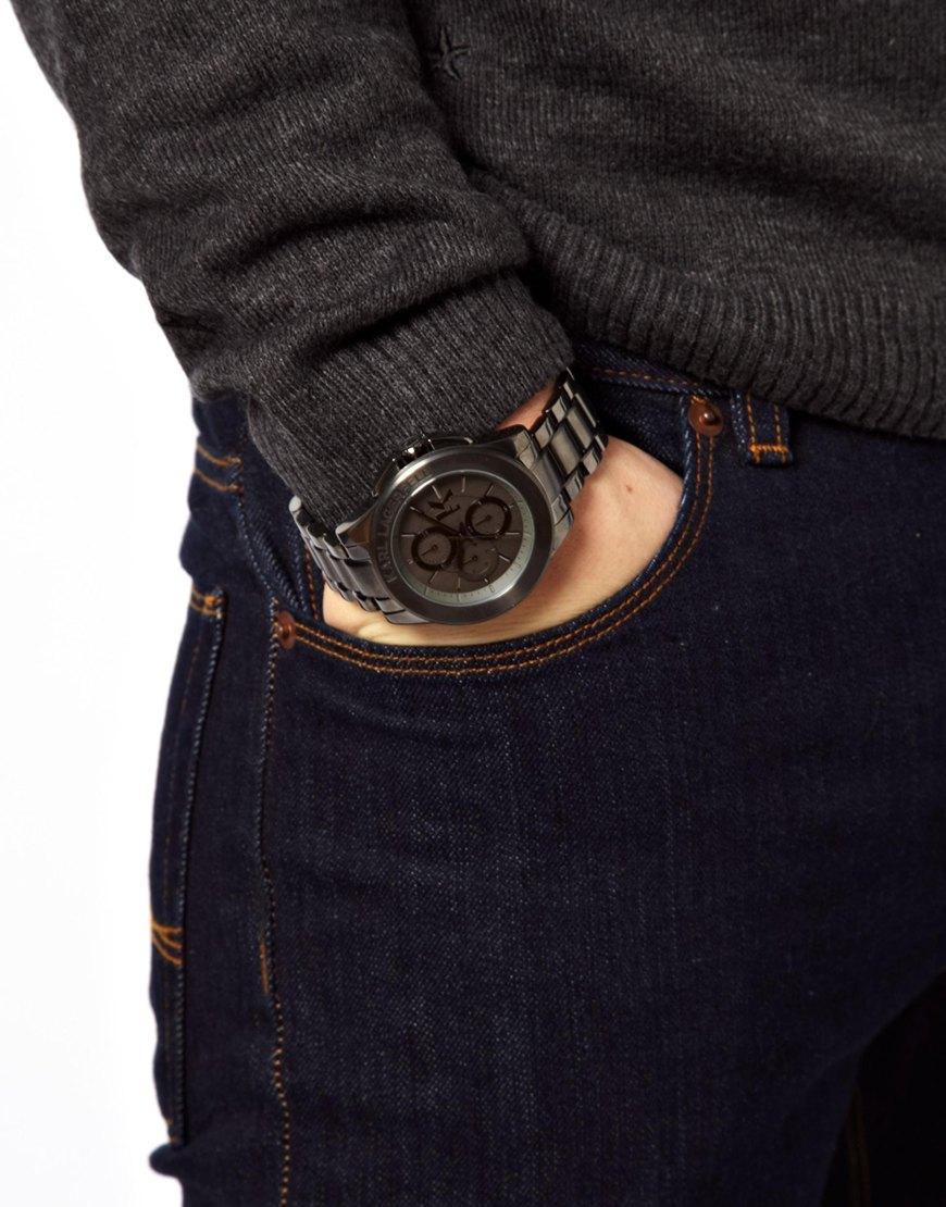 karl lagerfeld energy watch in metallic for men lyst gallery