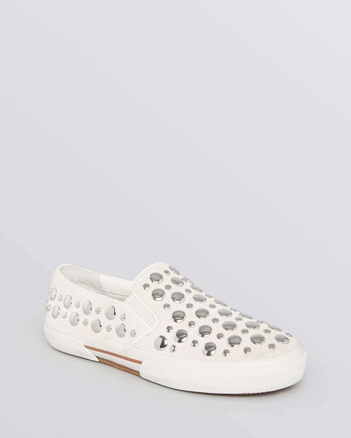cd159a5bdbc7 Lyst - MICHAEL Michael Kors Slip On Sneakers Boerum Studded in White