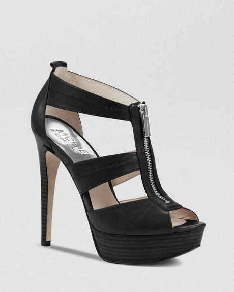 michael michael kors peep toe platform sandals berkley. Black Bedroom Furniture Sets. Home Design Ideas