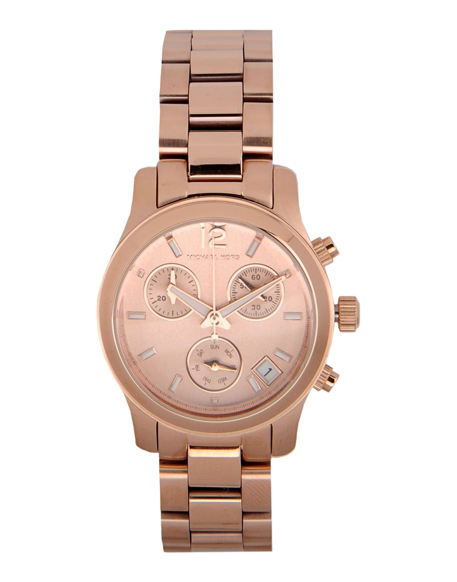 Michael kors wrist watch in pink copper lyst for Watches michael kors