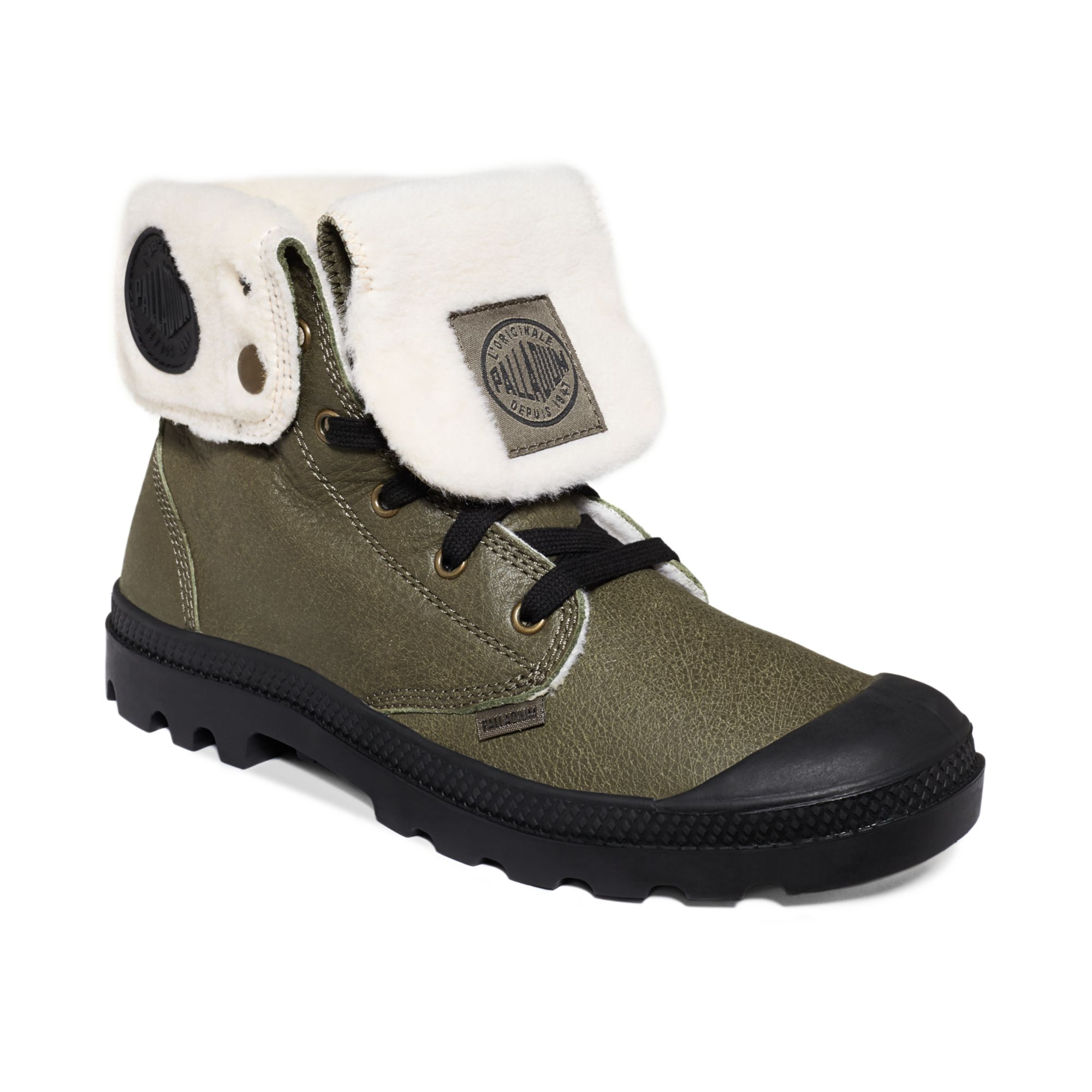 Palladium Baggy Leather S Wool Boots in