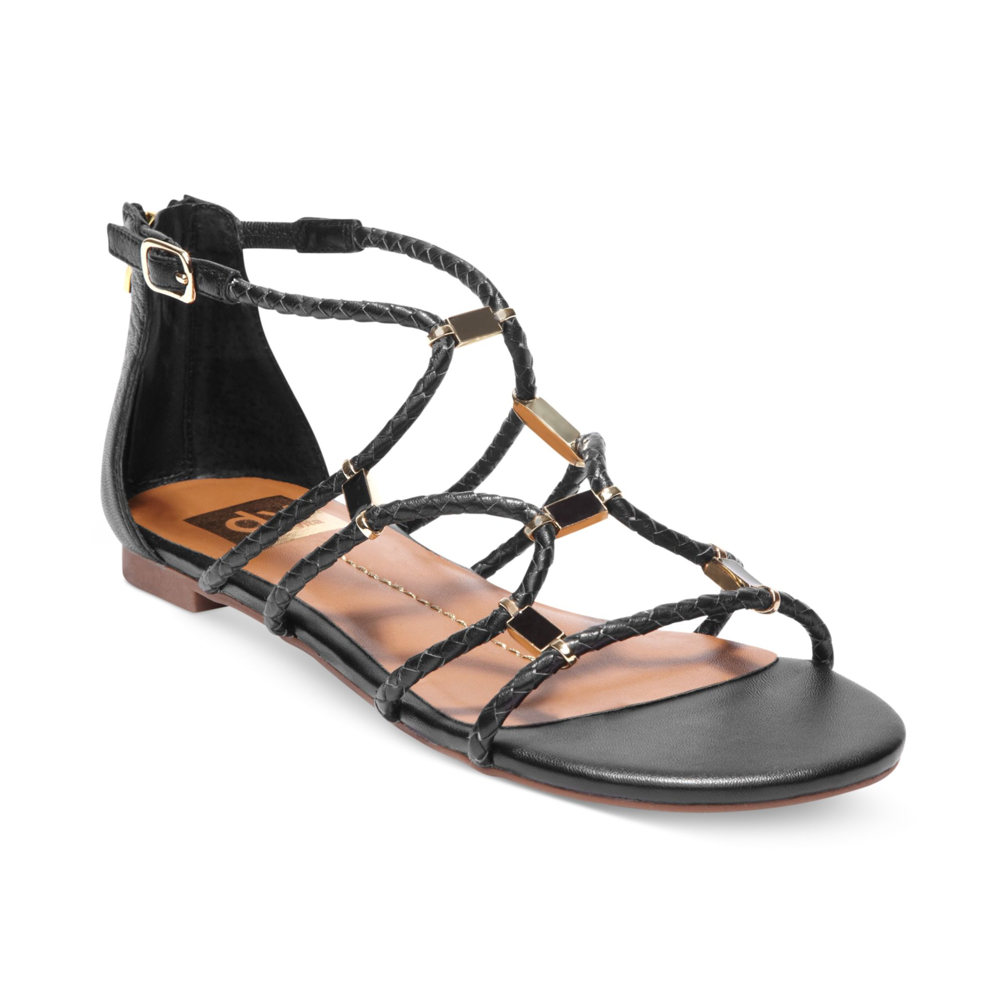 Dv Strappy Sandals Black Dolce Agate By Flat Vita wOZiTkXlPu