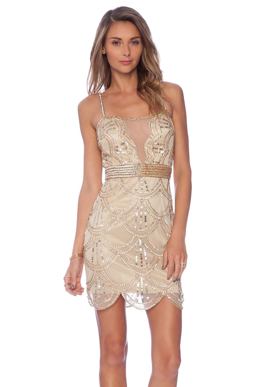 Raga Embellished Mini Dress in Metallic   Lyst