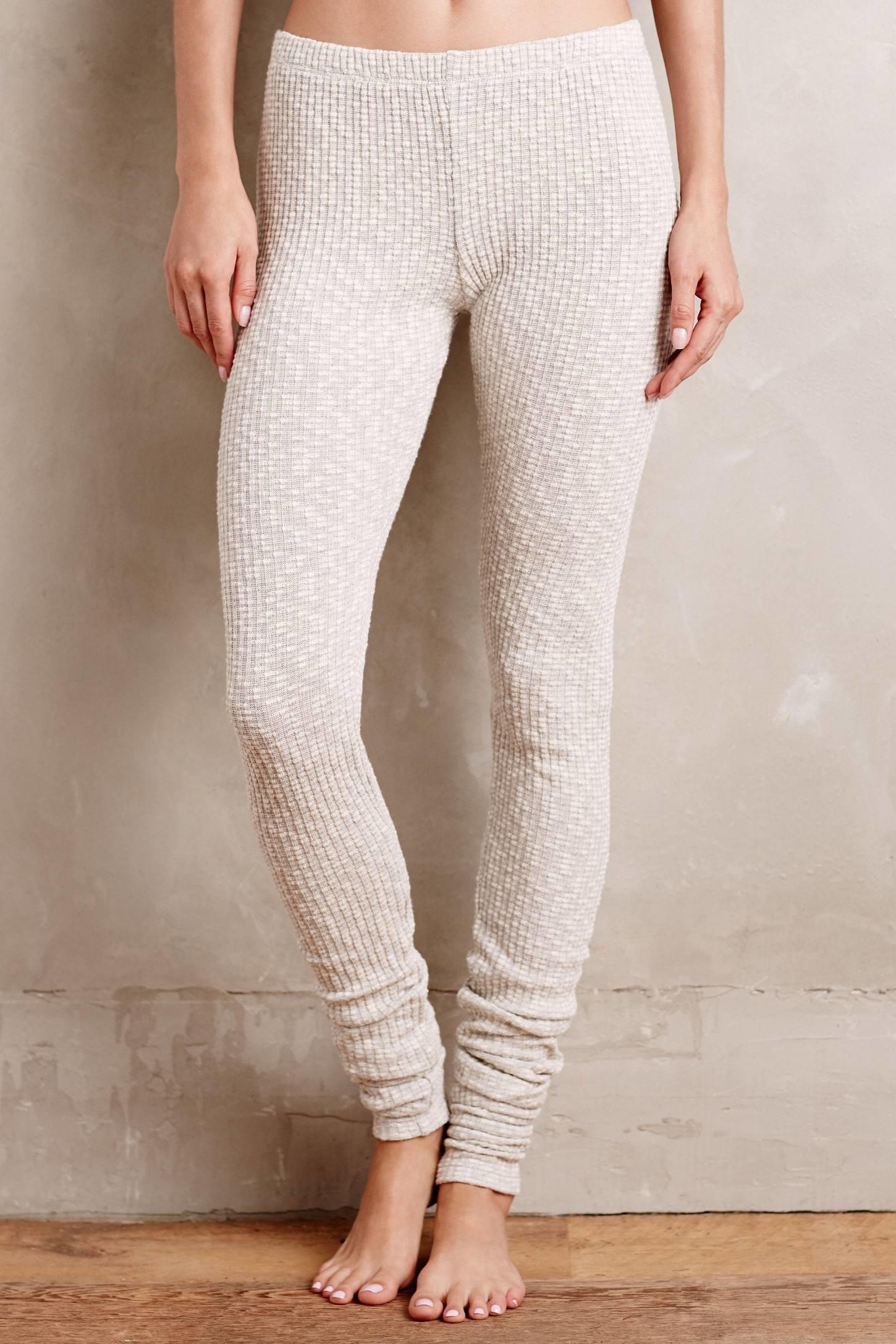 Everleigh Ribbed Sweaterknit Leggings in Natural | Lyst