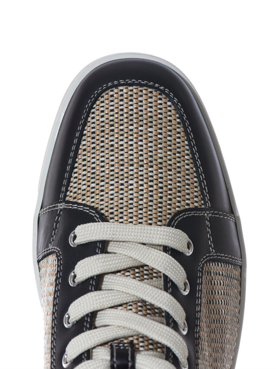 new style bdaab eb3e2 Men's Black Rantus Leather Hightop Sneakers