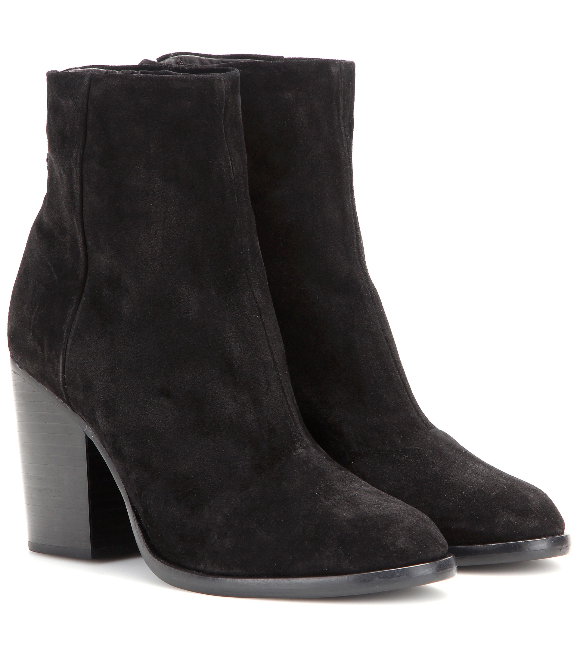 Rag & Bone Black Suede Ankle Boots