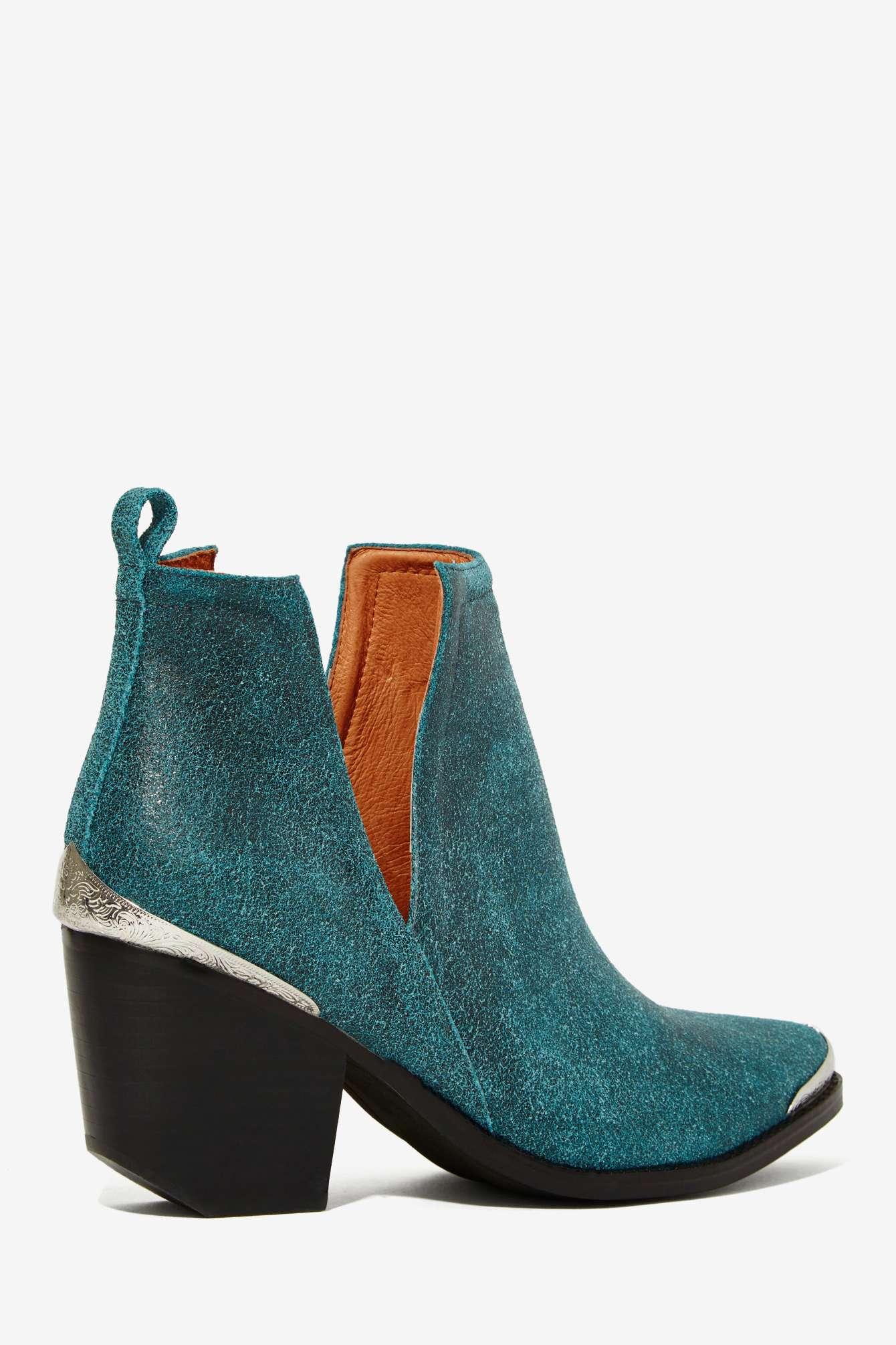 Teal Suede Shoe