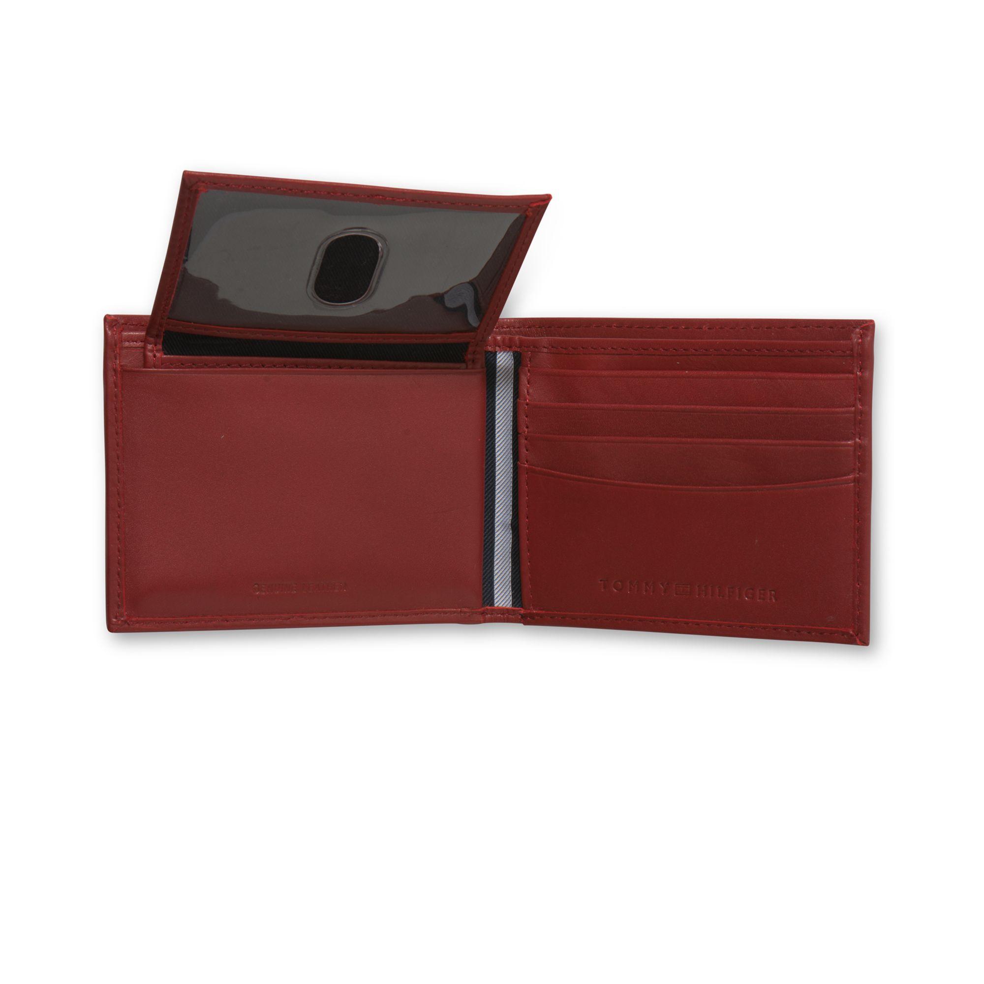 6aae25dbd1fc Tommy Hilfiger Red Dore Passcase Billfold Wallet for men