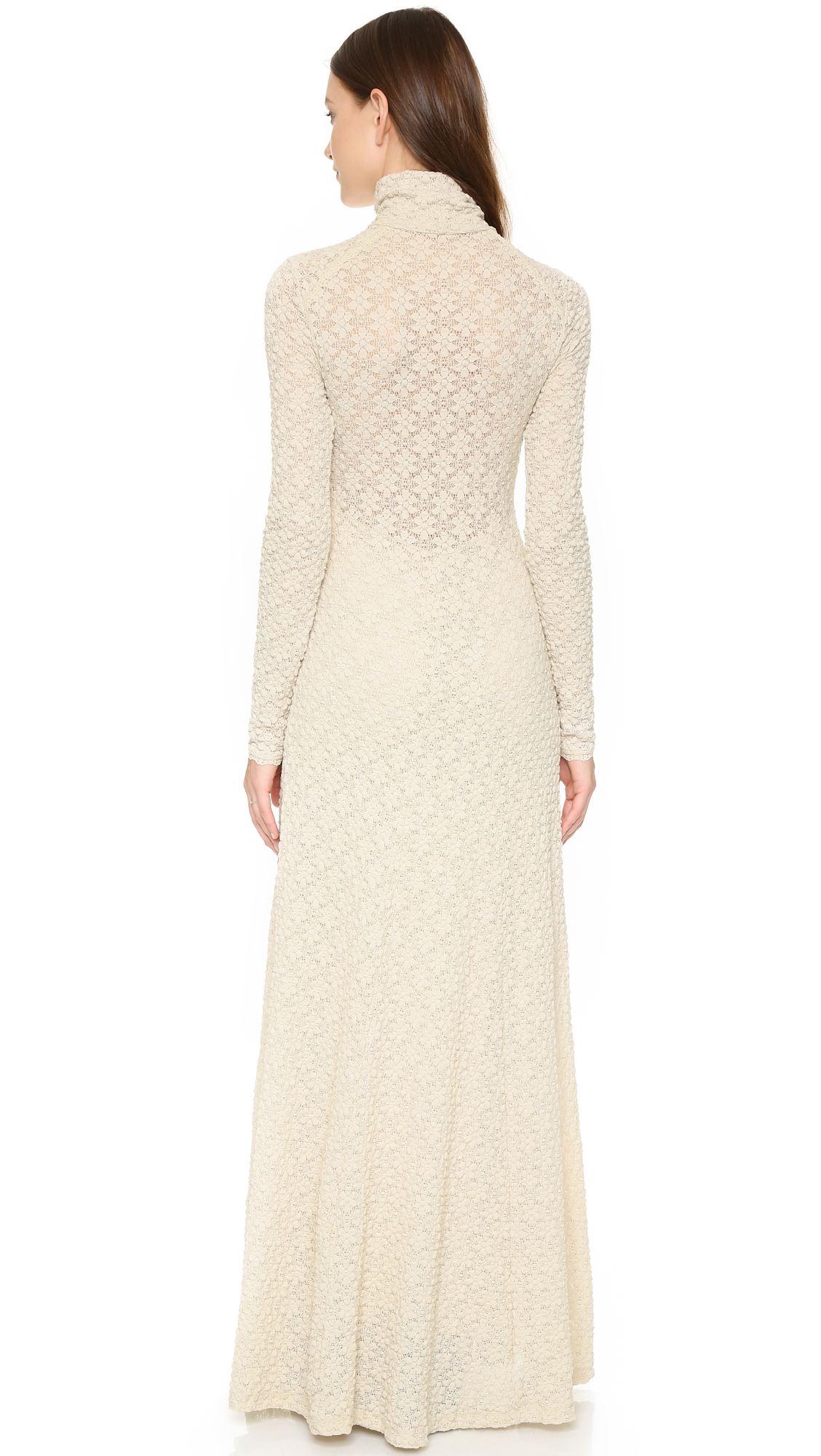 free people lace white river maxi dress in pink lyst