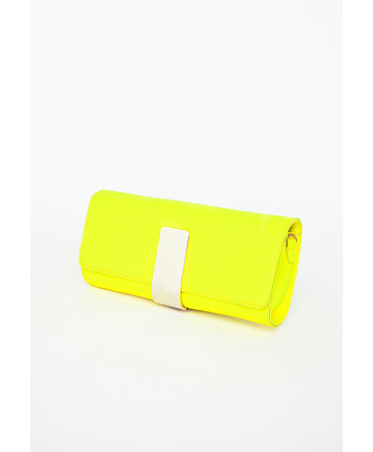 missguided lucyna yellow gold clasp clutch bag in yellow