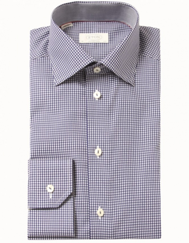Eton Of Sweden Gingham Shirt In Blue For Men Navy
