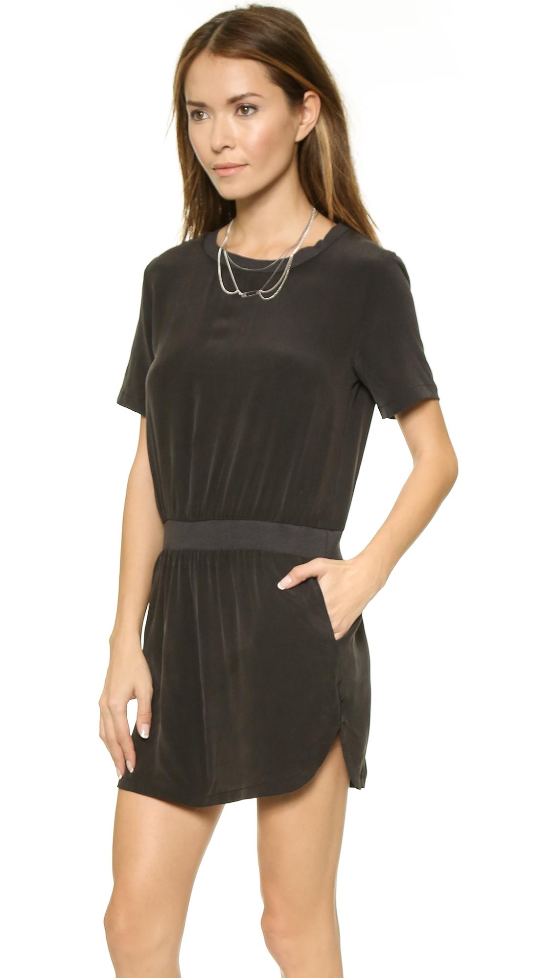 black silk dress - HD1128×2000
