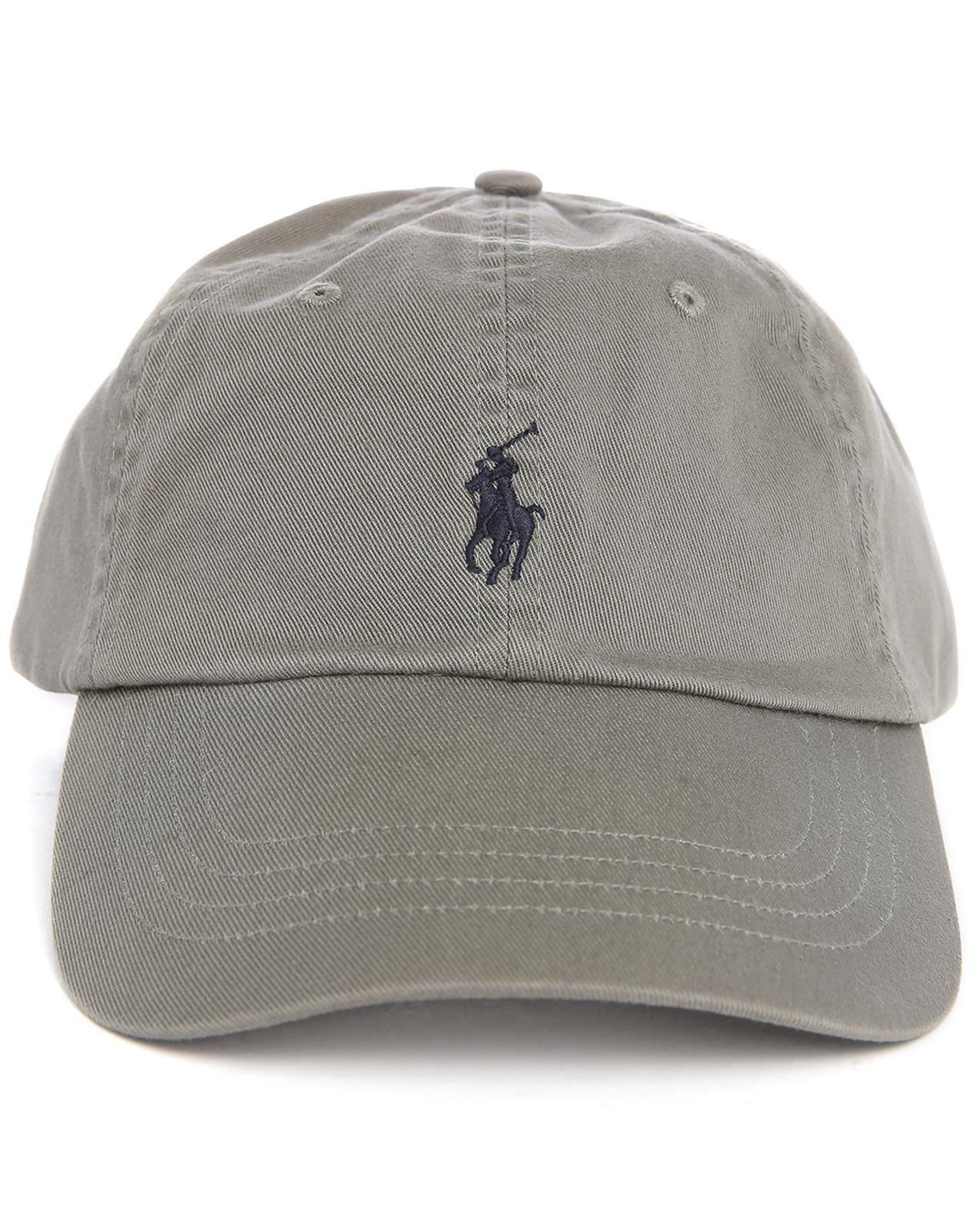 polo ralph lauren grey classic logo cap in gray for men beige lyst. Black Bedroom Furniture Sets. Home Design Ideas