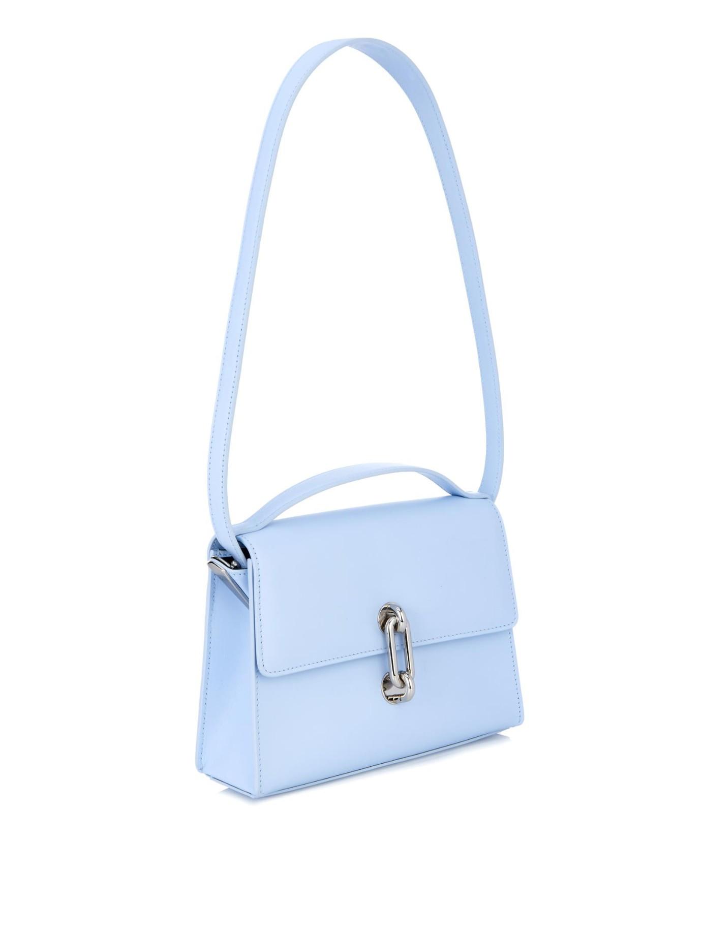 Balenciaga Maillon Mini Trapeze Leather Cross Body Bag In