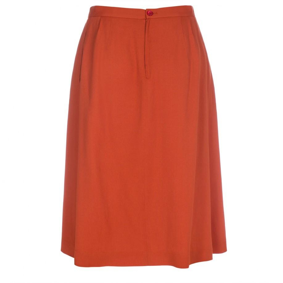 paul smith pleated circle skirt in orange lyst