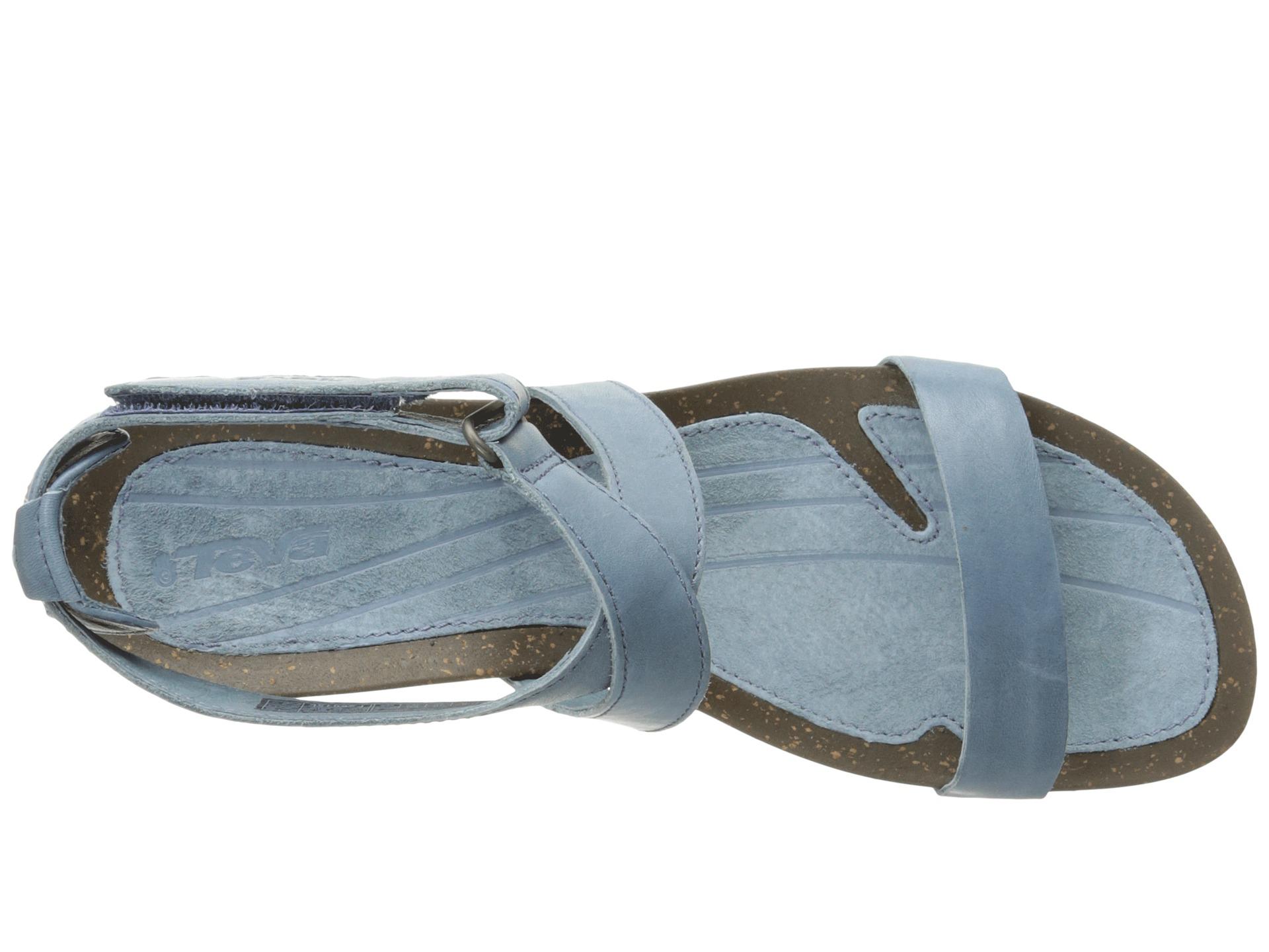 Lyst Teva Cabrillo Strap Wedge 2 In Blue