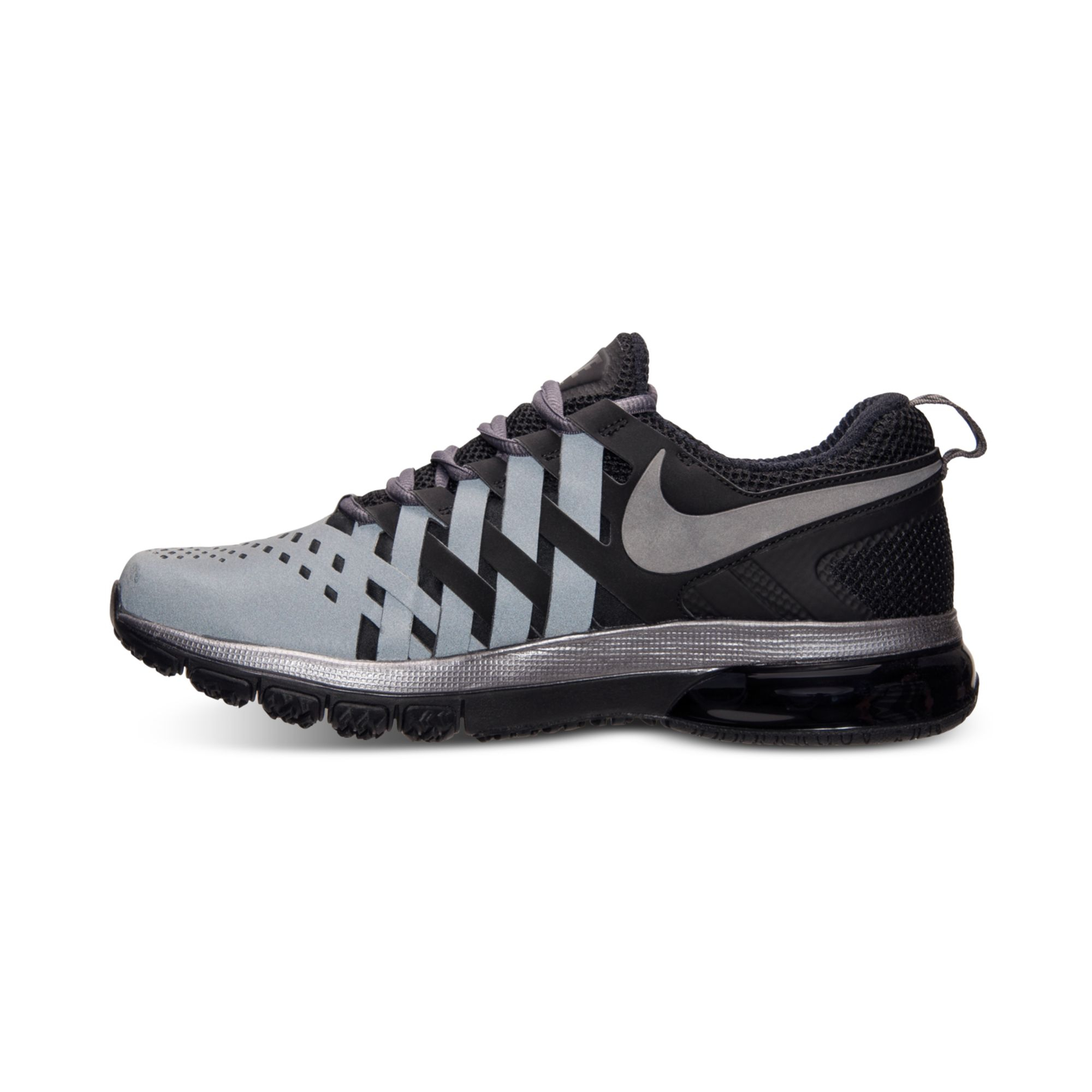 nike mens fingertrap air max training sneakers from finish. Black Bedroom Furniture Sets. Home Design Ideas