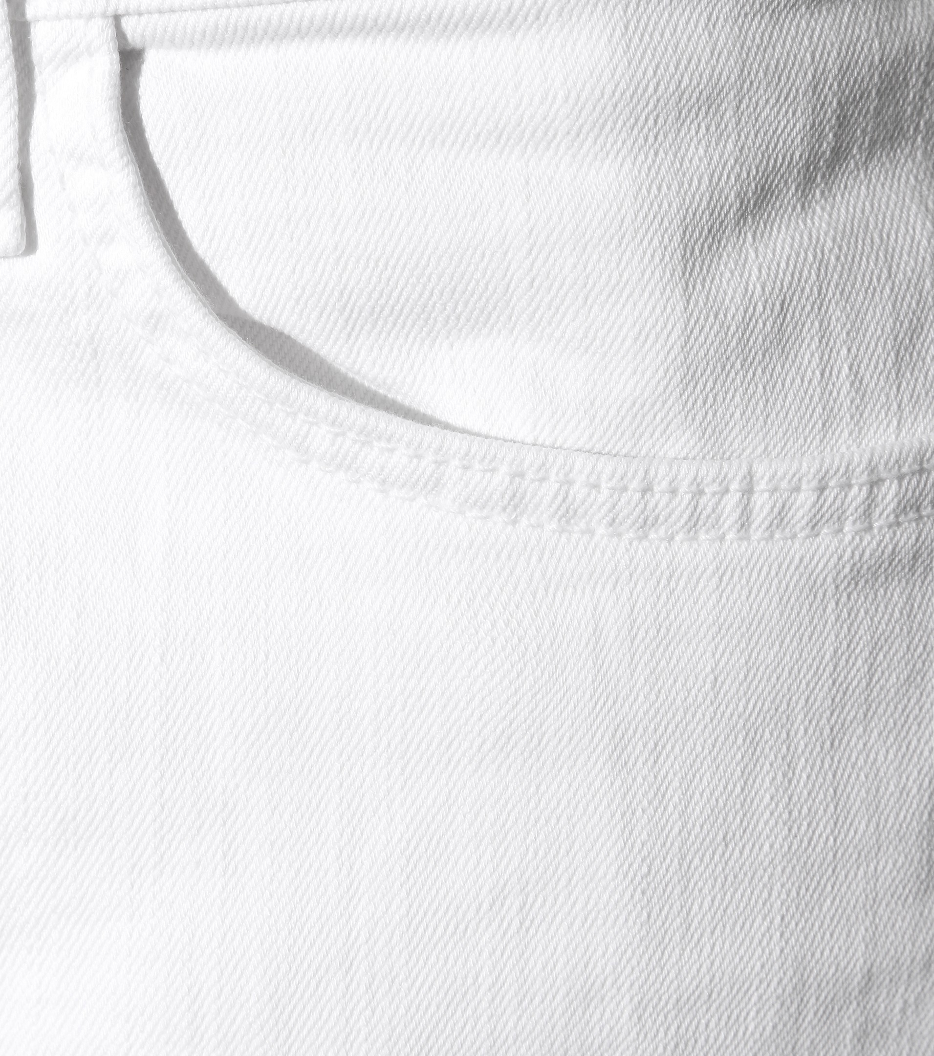Current/Elliott The Cropped Straight Jeans in White