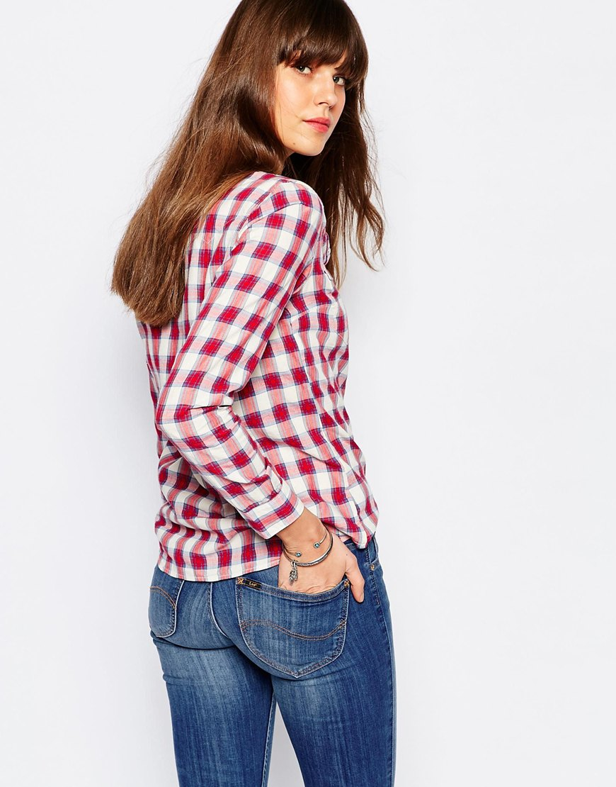 Lee Jeans Check Shirt Red In Red Lyst