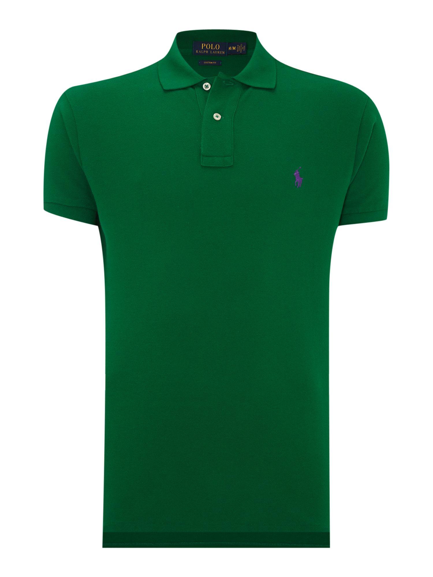 Polo ralph lauren custom fit short sleeve mesh polo shirt for Polo ralph lauren custom fit polo shirt