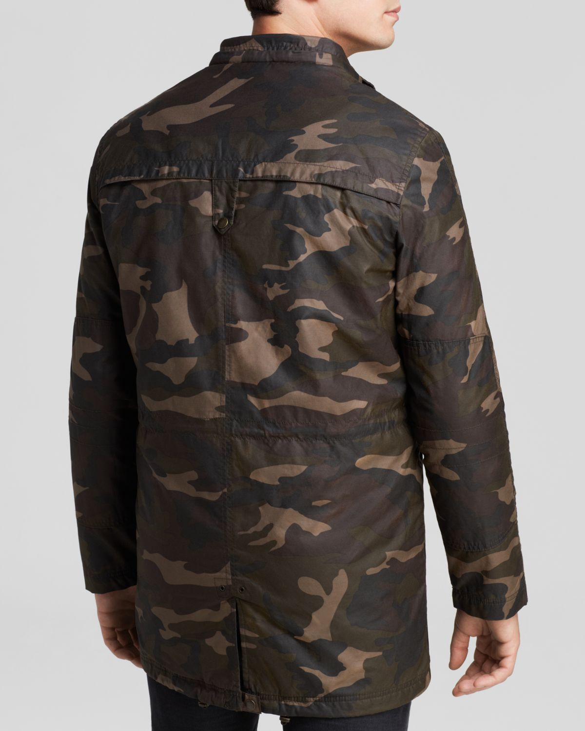 Cole haan washed military parka