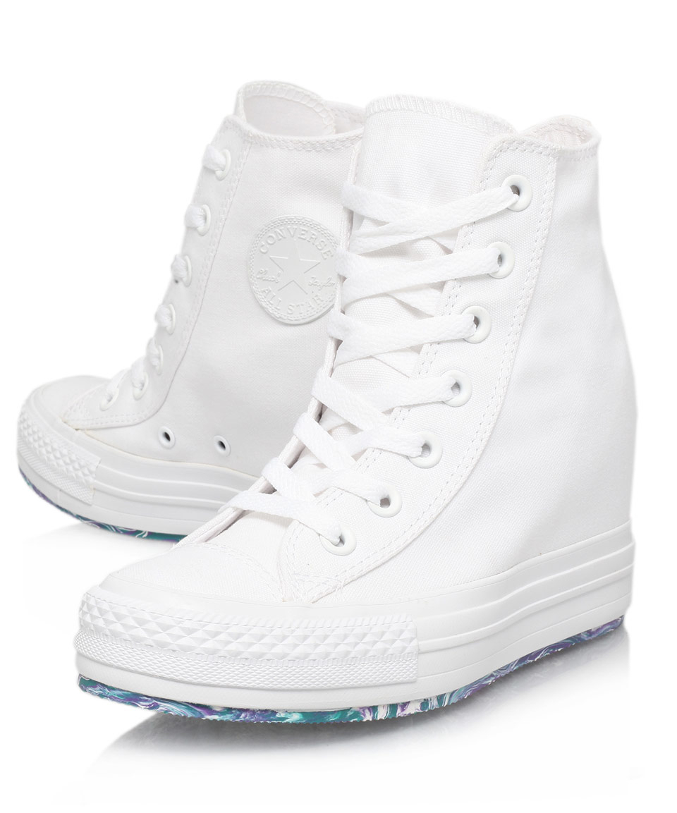converse mid platform trainers