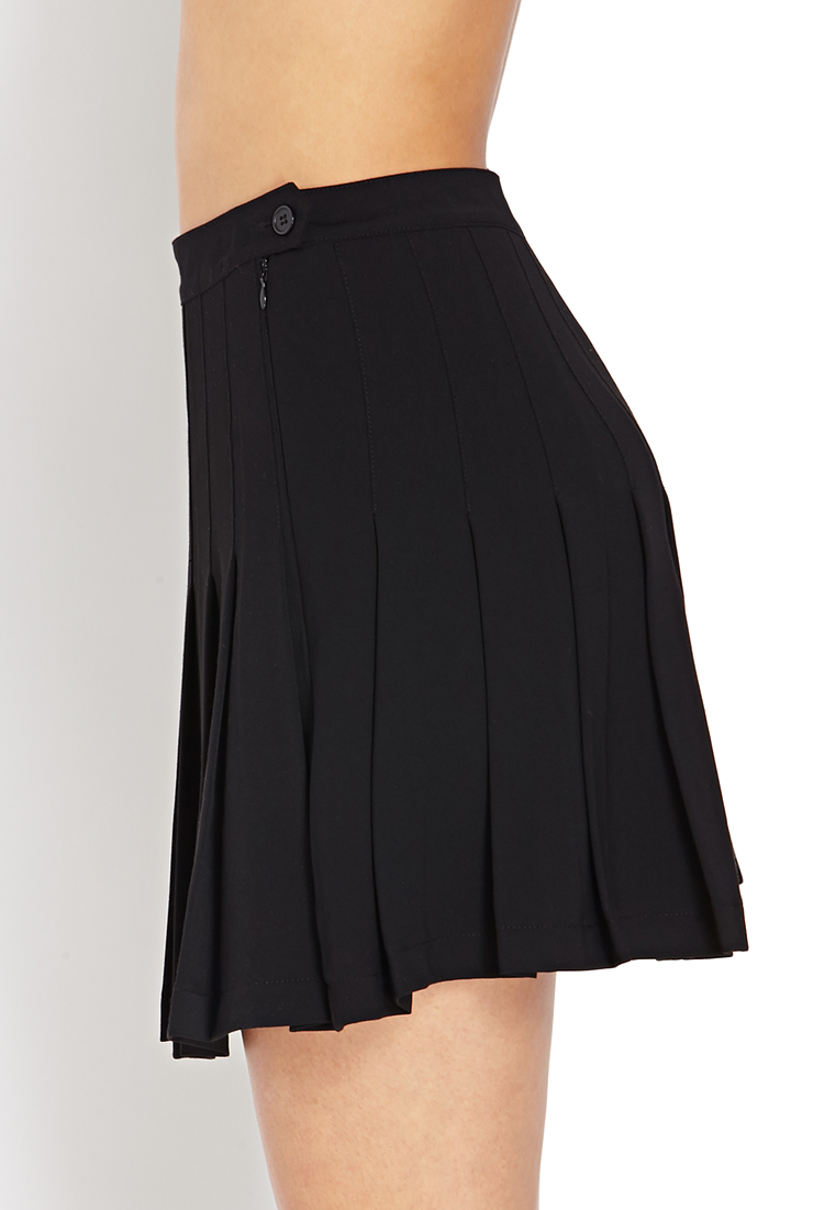 Forever 21 Perfect Pleats Mini Skirt in Black | Lyst