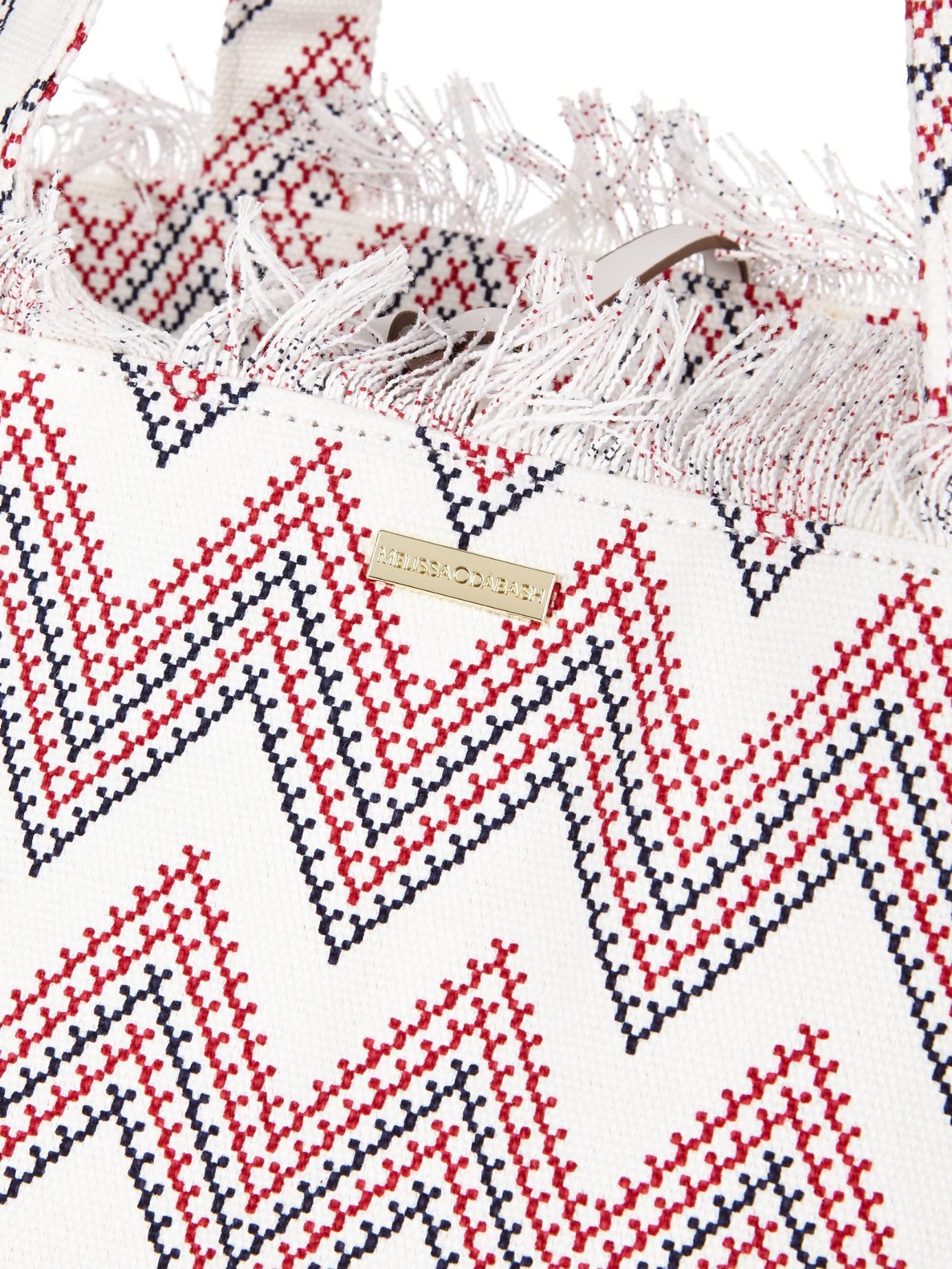 Melissa Odabash Ibiza Aztec-print Canvas Tote Bag