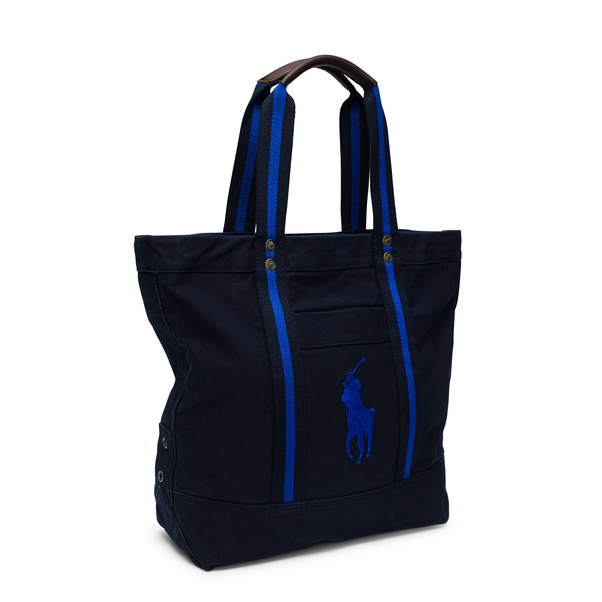 db66b23cb ... best price polo ralph lauren canvas big pony tote in blue for men lyst  66a59 56850