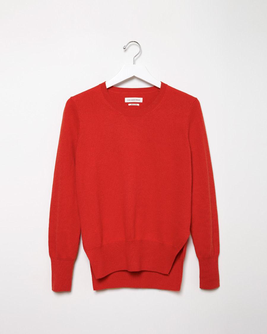 toile isabel marant kerstin crewneck pullover in red lyst. Black Bedroom Furniture Sets. Home Design Ideas
