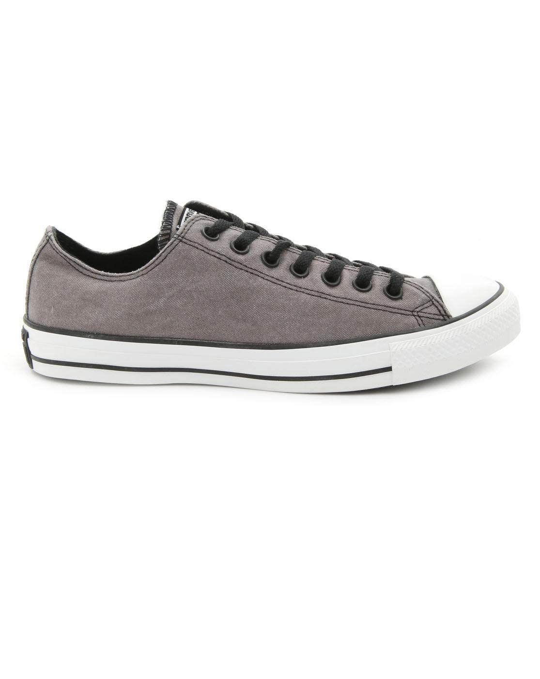 converse all star low vintage dark grey sneakers in gray. Black Bedroom Furniture Sets. Home Design Ideas
