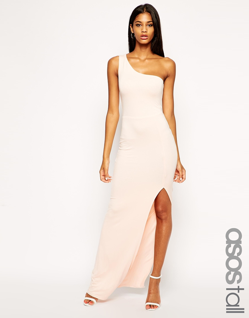 Lyst Asos Exclusive One Shoulder Maxi Body Conscious Dress In