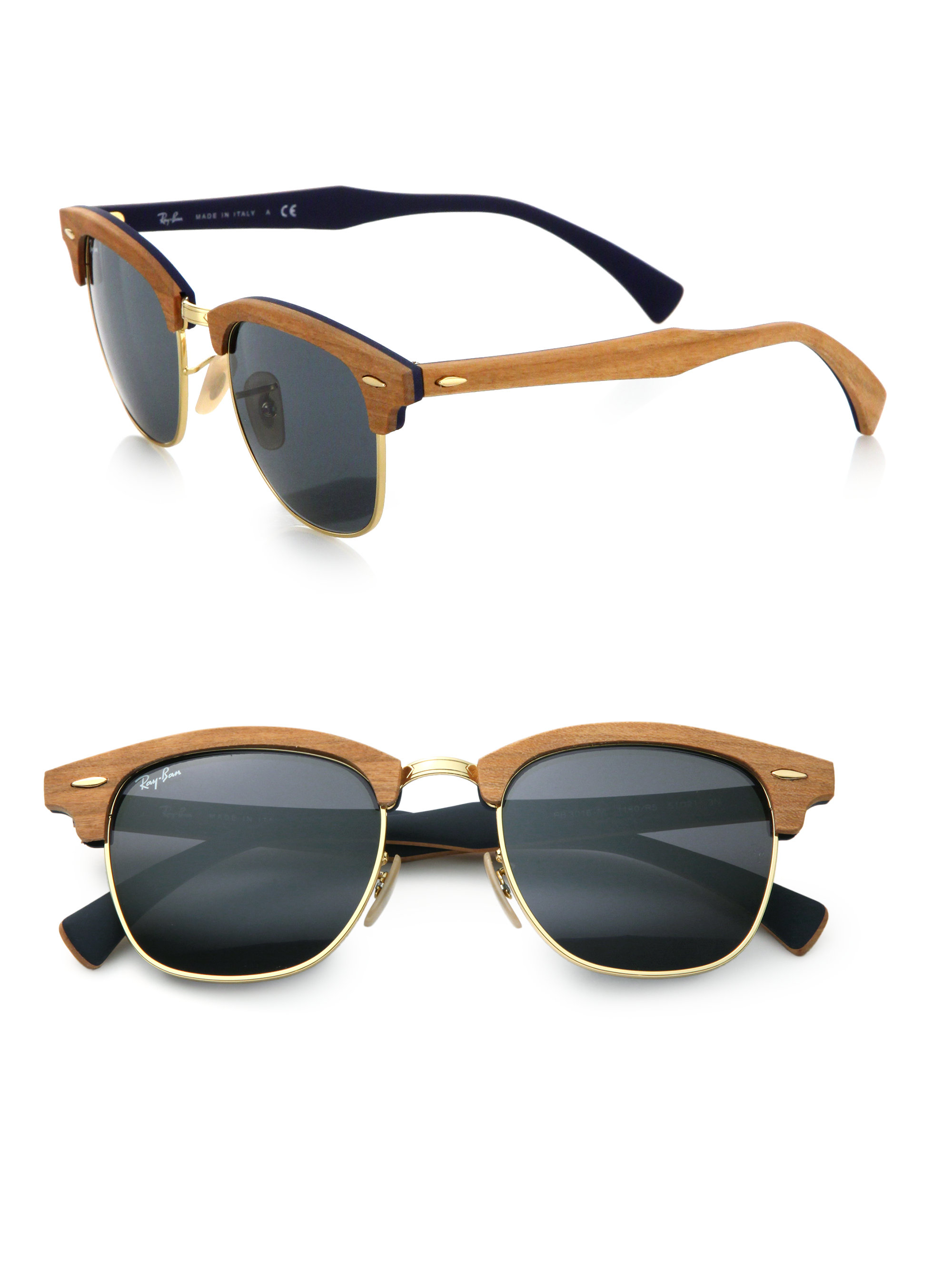 9f879b44c8 ... low cost gallery. previously sold at saks fifth avenue mens ray ban  clubmaster ad086 6d514