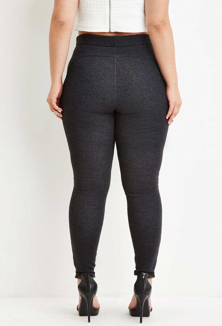 0363511143b882 Forever 21 Plus Size Classic High-waisted Leggings in Black - Lyst