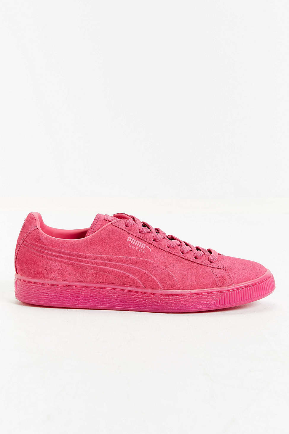 puma suede mono sneaker in pink lyst. Black Bedroom Furniture Sets. Home Design Ideas