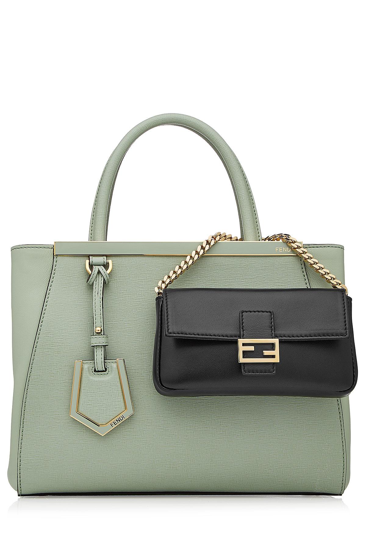 defe5f27b4cc Lyst - Fendi Micro Baguette Leather Shoulder Bag - Black in Black