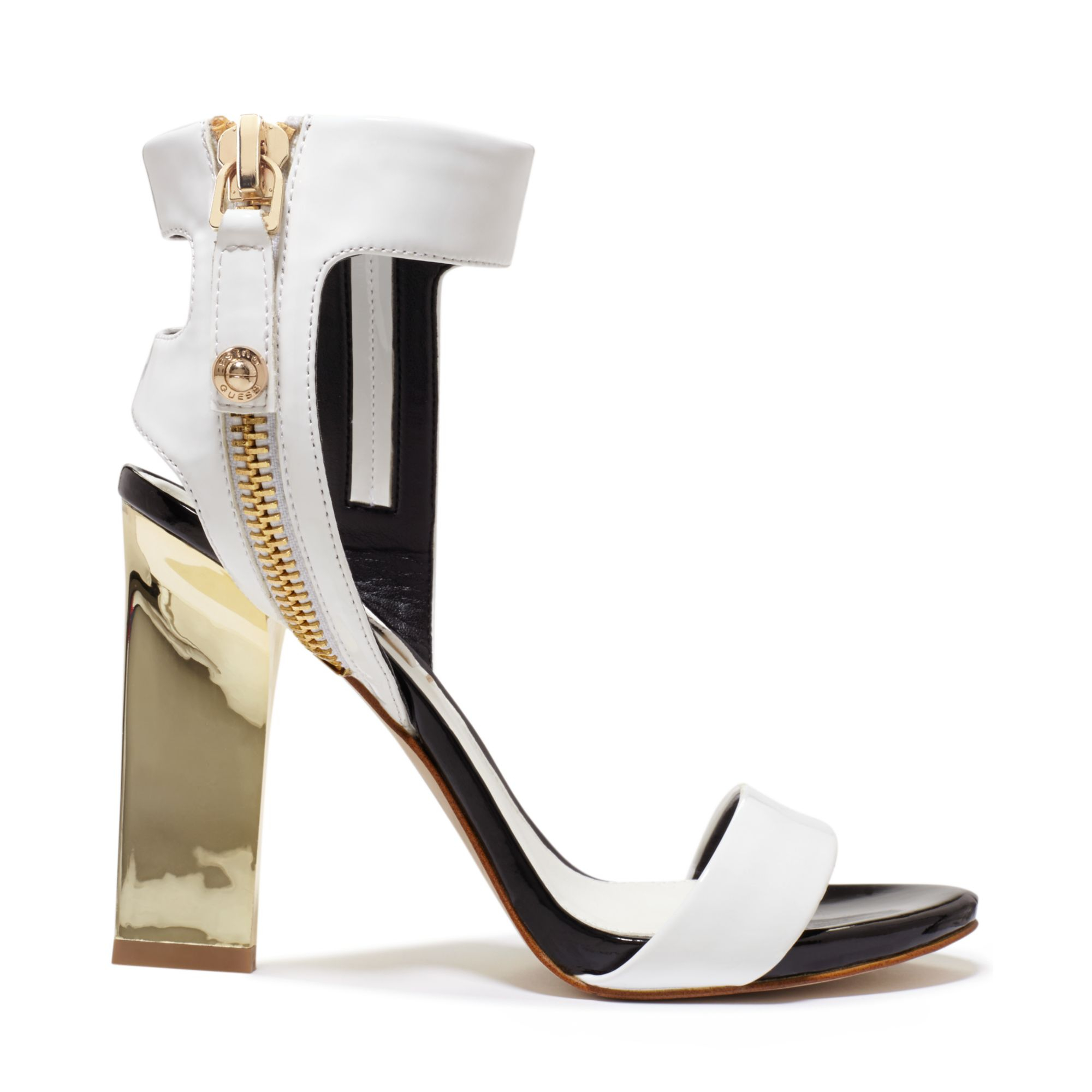 Guess Womens Brodi Double Ankle Strap Sandals In White Lyst