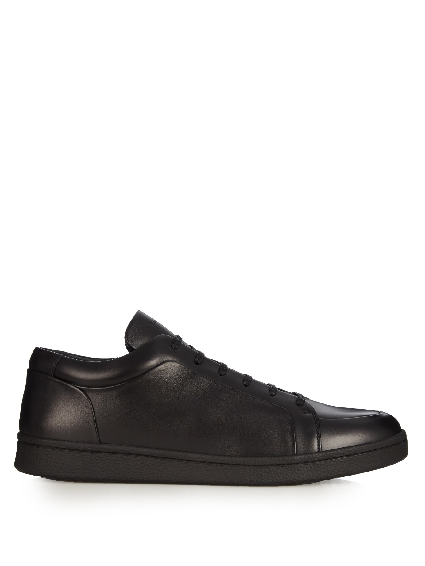 balenciaga urban low top leather trainers in black for men lyst. Black Bedroom Furniture Sets. Home Design Ideas