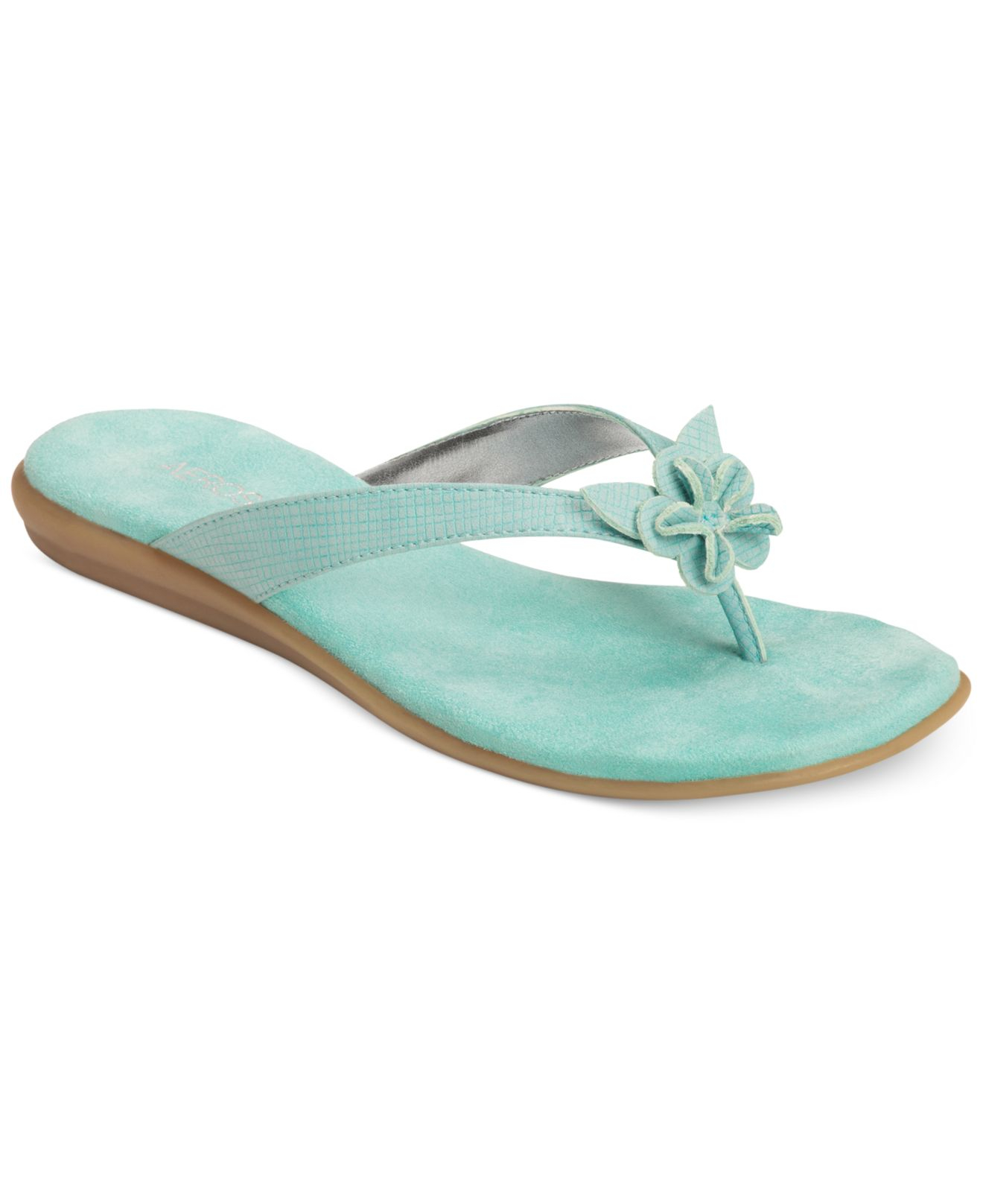 Aerosoles Branchlet Flip Flop Sandals In Blue Green Blue