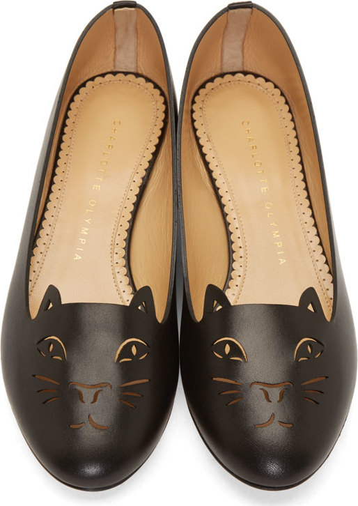 Charlotte Olympia Flat, In Leather