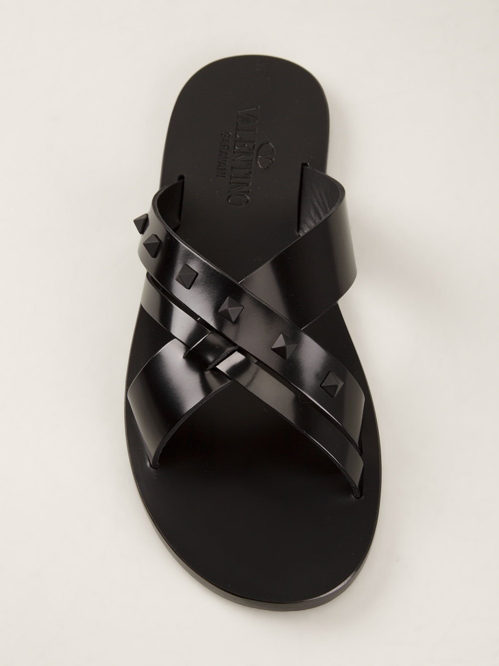 Valentino Black For Men Sandal Rockstud jzLpqUSVMG