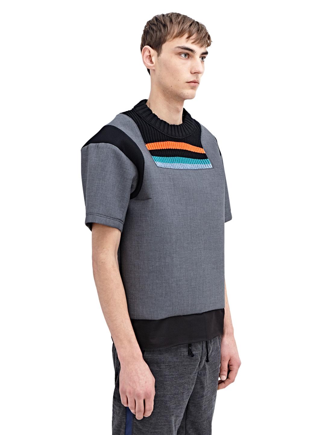 Kolor Mens High Tech Crew Neck T Shirt In Gray For Men Lyst