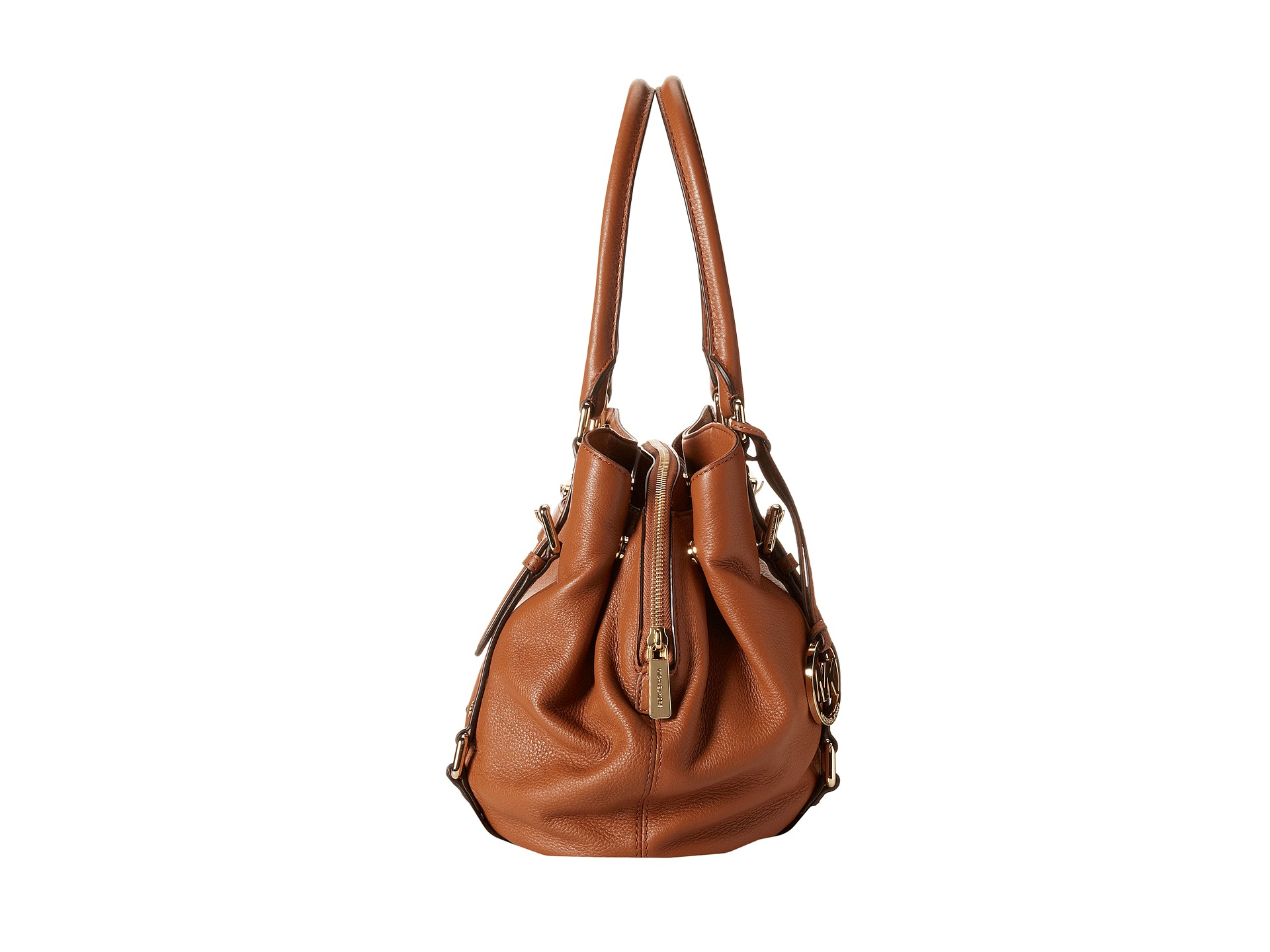 ee78fdab25e98 ... norway lyst michael michael kors bedford large east west satchel in  brown 695e3 4a551